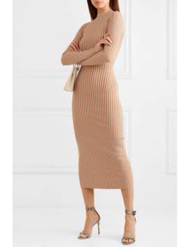 Cutout Ribbed Knit Midi Dress by Dion Lee