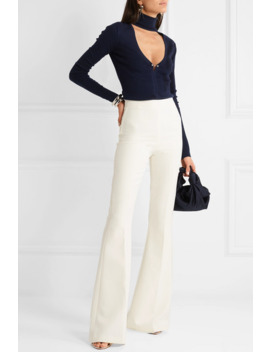 Embellished Cutout Merino Wool Blend Turtleneck Sweater by Dion Lee