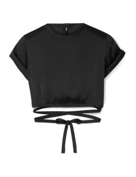 Le Club Cropped Satin Top by Orseund Iris