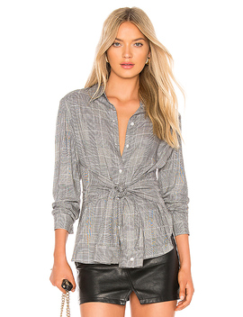 Hold Me Tight Top In Plaid Multi by Bailey 44