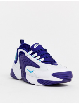 Nike Zoom 2k Sneakers In White And Blue Ao0269 104 by Nike