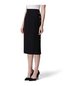 Stretch Crepe Midi Pencil Skirt by Tahari Asl