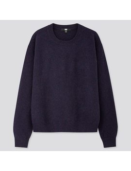 Women Premium Lambswool Crew Neck Jumper (42) by Uniqlo