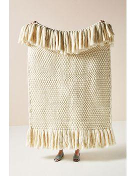 Bobbie Wool Throw Blanket by Anthropologie