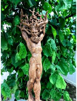 Green Man, Cernunnos Statue by Etsy