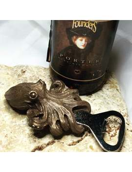 Kraken Bottle Opener, Bronze Finish by Etsy