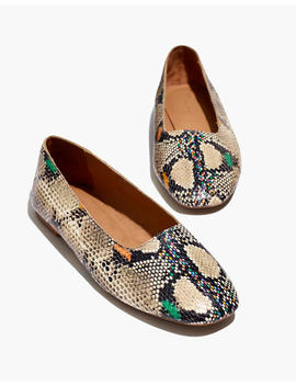 The Cory Flat In Snake Embossed Leather by Madewell