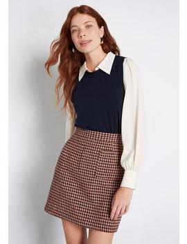 Charter School Sleeveless Sweater by Modcloth