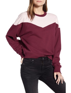 Colorblock Cotton Sweatshirt by Rebecca Minkoff