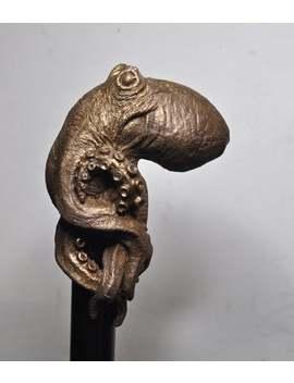 Kraken Cane, Bonded Bronze by Etsy