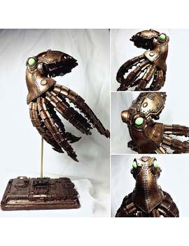 Mecha Kraken Statue, Steampunk Brass Finish by Etsy