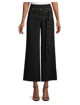 Jessi Buckle Wide Leg Cropped Pants by Cinq A Sept