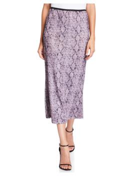 Olympia Python Print Midi Skirt by Cinq A Sept