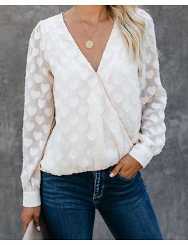 Every Possibility Textured Heart Drape Blouse   Final Sale by Vici