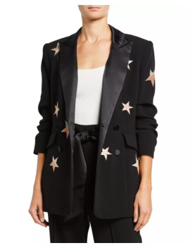 Lila Embroidered Star Blazer by Cinq A Sept