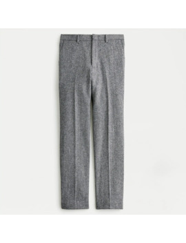 Ludlow Classic Fit Suit Pant In English Herringbone Wool Cotton Twill by J.Crew