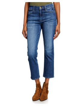 Le High Cropped Straight Leg Jeans by Frame
