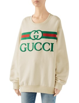 Embroidered Logo Sweatshirt by Gucci