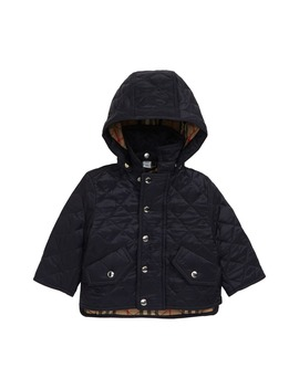 Ilana Diamond Quilted Hooded Jacket by Burberry