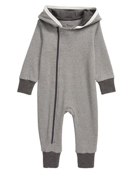 Stripe Hooded Organic Cotton Romper by City Mouse