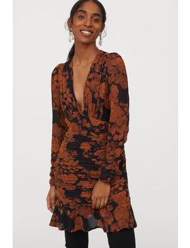 vestido-de-chifón-estampado by h&m