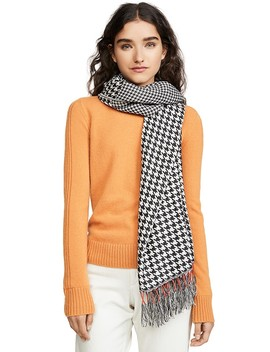 Mixed Houndstooth Scarf by Rag &Amp; Bone