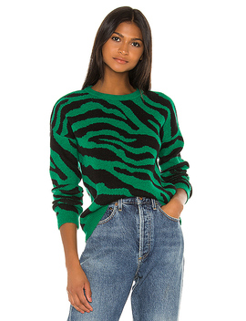 You're An Animal Sweater In Pepper Green by Bb Dakota