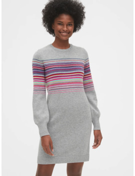 Wool Blend Crazy Stripe Sweater Dress by Gap