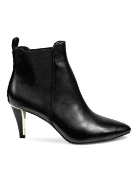 Alani Pointy Leather Booties by Dkny