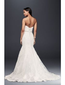 Petite Strapless Wedding Dress With Beaded Sash by David's Bridal Collection