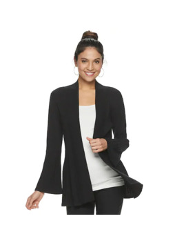 Women's Apt. 9® Knitted Bell Sleeve Cardigan by Apt. 9