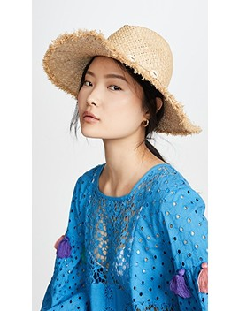 Shell Trim Boho Straw Hat by Madewell