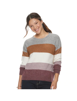 Juniors' So® Mossy Color Block Stripe Pullover by Juniors' So