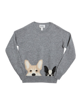 Corgi & Terrier Drop Shoulder Sweater, Size 8 16 by Autumn Cashmere