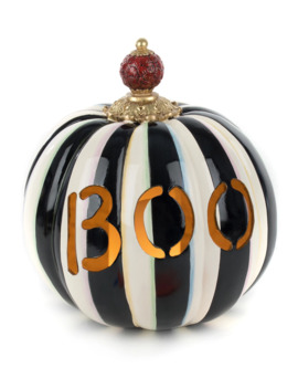 Boo Illuminated Pumpkin by Mac Kenzie Childs