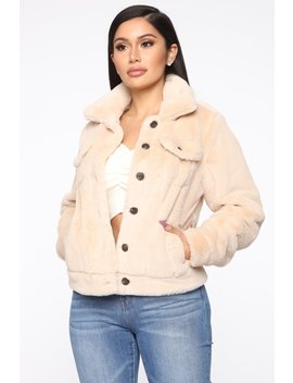 Fur Real Love Jacket   Cream by Fashion Nova