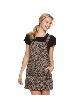 Juniors' So® So Button Front Pinafore by Juniors' So