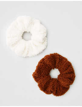 Aeo Sherpa Scrunchies 2 Pack by American Eagle Outfitters