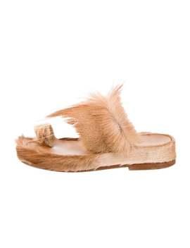 Cromac Fur Slide Sandals by Christian Louboutin