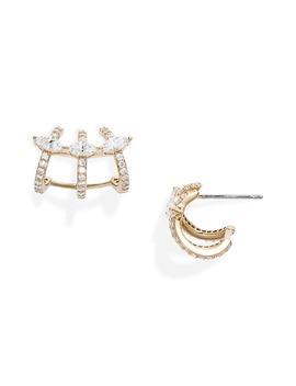 Rae Cage Hoop Earrings by Nadri