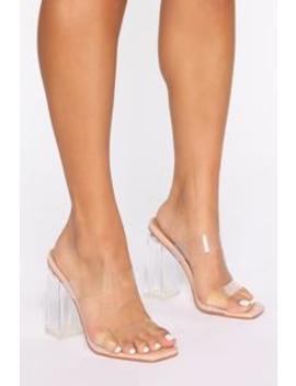 Yeah I Said It Heeled Sandals    Nude by Fashion Nova