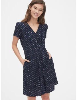 Print Button Front Mini Dress by Gap