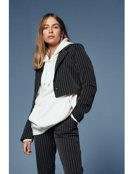 Hollaback Girl Pinstripe Cropped Blazer by Nasty Gal