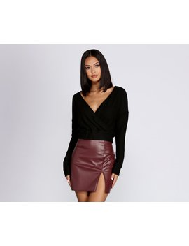 Wrapped In Knit Crop Top by Windsor