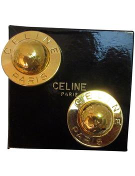 Gold Plated World And Stars Clip Back Runway Earrings by Céline