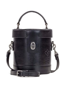 Heritage Collection Noli Top Handle Cylinder Leather Crossbody Bag by Patricia Nash