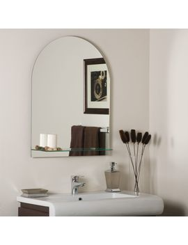 "Roland 23 1/2"" X 31 1/2"" Arched Wall Mirror With Shelf by Lamps Plus"