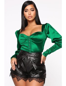 Leave You Wanting More Crop Top   Hunter by Fashion Nova
