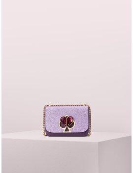 Nicola Glitter Twistlock Small Convertible Chain Shoulder Bag by Kate Spade