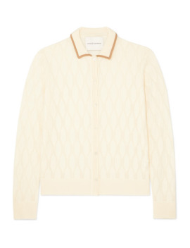 Pointelle Knit Merino Wool Cardigan by King & Tuckfield